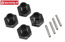 LOS252077 Wheel Hex 20 mm with pin SBR-SRR, 4 pcs.
