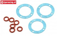 LOS252097 Differential gasket/Oring 5IVE-T 2.0, Set