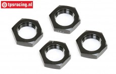 LOS252098 Wheel nut Black 25 mm LOSI-BWS, 4 pcs.