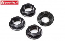 LOS252112 Wheelnut with flange black SRR-SBR 2.0, 4 pcs