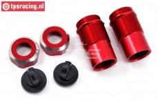 LOS253004 Shock housing Red DBXL-MTXL, 2 pcs