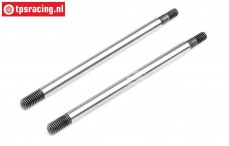 LOS253025 Shock rod front Super Rock Rey, 2 pcs.