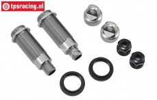 LOS254042 Shock Body & Collar Rear Super Baja-Rock Rey, Set