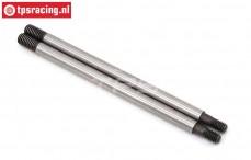 LOS254045 Shock Shaft Rear SBR-SRR, 2 pcs.