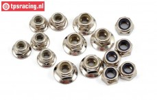 LOS256000 Lock Nut M4-M5, 15 pcs.