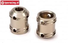 LOSB3221 Aluminium Drive shaft coupler 5T-5B-MINI-BWS, 2 pcs.