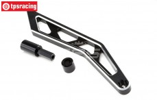 LOS351005 Chassis brace rear black, LOSI MTXL, 1 pc.