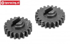 LOS352000 Steel Gears 19T and 21T DBXL, 2 pcs
