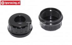 LOS353007 Aluminium lower shock closure black 5IVE-T 2.0, 2 pc.