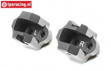 LOS354011 Aluminum Upper Track Rod Mount Super Baja-Rock Rey, 2 pcs.