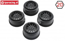 LOS43006 Super Baja Rey Rims black, 4 pcs.