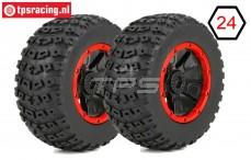 LOS45004 Tyre on Rim DBXL Ø175-W70 mm, 2 pcs.