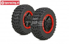LOS45004 Tyre on Rim DBXL Ø175-W70 mm, 2 pcs.