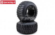 LOS45006 Tyres with Foam DBXL Ø120-W70 mm, 2 pcs.
