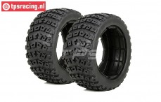 LOS45006 DBXL Tyres with Foam, (Ø120-B70 mm), 2 pcs.