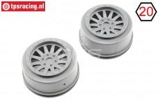 LOS45020 Silver rims SBR-SRR, set, 2 pcs.