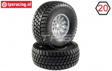 LOS45021 Desert Claw tyres Mounted, 2 pcs.