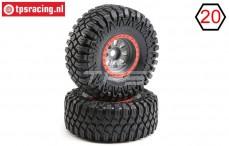 LOS45029 Maxxis Creepy Crawler tyres mounted, 2 pcs.