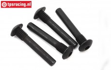 LOS254052 Outer hinge pin screw Super Baja Rey, 4 pcs.