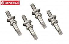 LOSB2860 Titanium upper shock mount LOSI-TLR-BWS, 4 pcs.