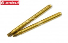 LOSB2862 Shock absorber rod nitrated LOSI-BWS-TLR, 2 pcs.