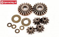 LOSB3202 Differential gears LOSI 5T-BWS-TLR, set