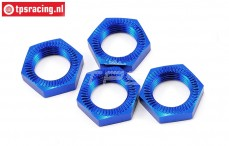 LOSB3227 Wheel nut Bleu, BWS-LOSI-TLR, 4 pcs.