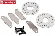 LOSB3231 Brake disk with lining 5T-MINI, Set