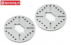 LOSB3234 Aluminium Brake disk 5T-MINI, 2 pcs.