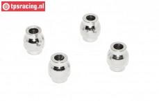 Servo rod Ball TPS, (Ø11/Ø5,2/H16 MM), (LOSI 5IVE-MINI WRC), (Steel), 4 pcs