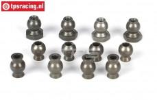 LOSB5904 Alloy Balls BWS-LOSI-TLR, 12 pcs.