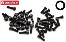 LOSB6450 Hex-Screw-sorti M3, 20 pcs.