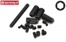 LOSB6501 Scrub Screw M3-M4-M5-M8, 19 pcs.
