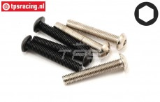 LOSB6579 Button Head screw M5 pcs.