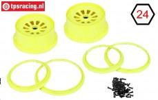LOSB7035 Rims Neon-Yellow, Set