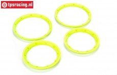LOSB7037 Beadlock Neon-Yellow, 4 pcs.