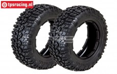 LOSB7240 LOSI Rally Nomad Medium Ø120-W80 mm, 2 pcs.