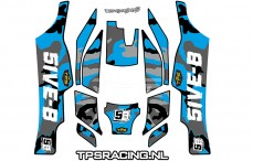 Decals TPS, TLR 5IVE-B, (Bleu), Set