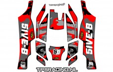 Decals TPS, TLR 5IVE-B, (Red), Set