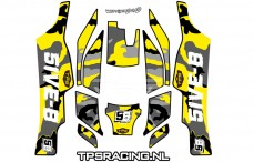 Decals TPS, TLR 5IVE-B, (Yellow), Set