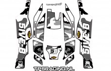 Decals TPS, TLR 5IVE-B, (White), Set