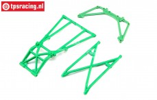 LOS241043 Rear Cage and Hoop Bars green LMT Truck, Set