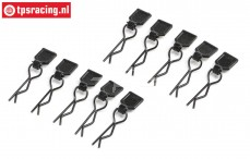 LOS246003 Body clips small black LMT Truck, 10 pcs.