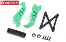 LOS241029 Wheelie Bar Green LMT Truck, Set