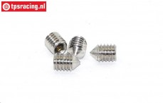 M2009/13 Mecatech Shock closure screw, 4 pcs.