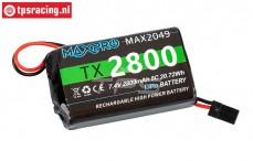 100031MAX2049 Maxpro 2S 2800 mAh LiPo, 1 pc.