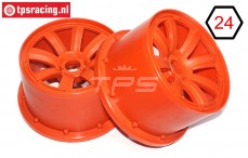 MM2333/02 MadMax Rims Orange Ø120-B80 mm, 2 pcs.