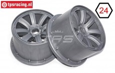 MM2334/02 MadMax Rims Silver Ø120-B80 mm, 2 pcs.
