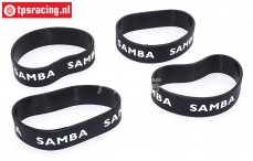 SAM4810Z Samba Exhaust ring Ø60-Ø70 Black, 4 pcs.