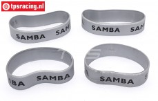 SAM4810S Samba Exhaust rings Ø60-Ø70 mm Silver, 4 pcs.